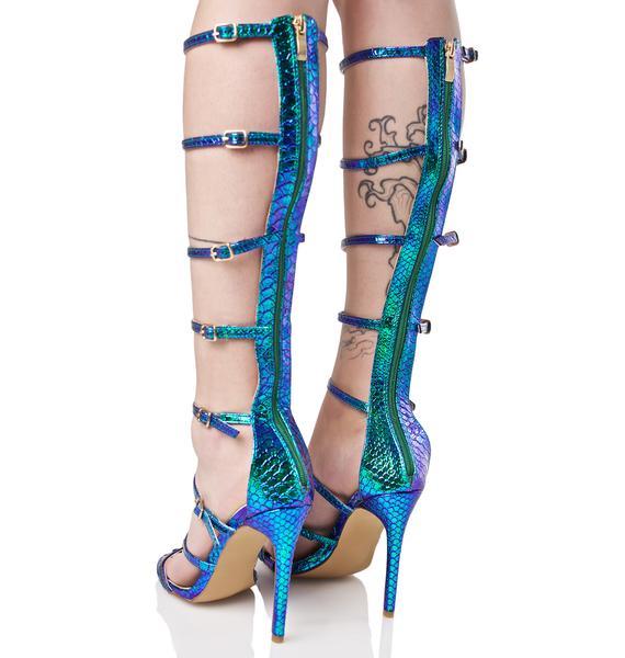 Sea Nymph Strappy Heels