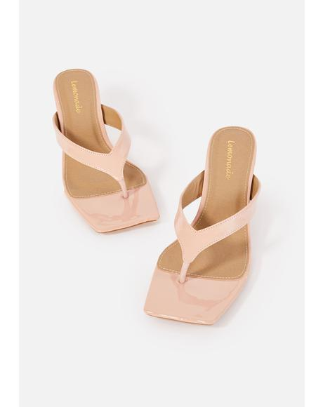 Nude Honey I'm Home Thong Sandals