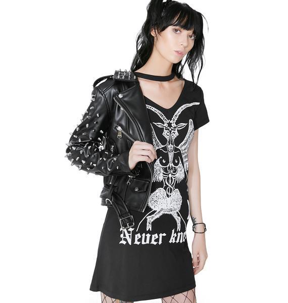 Disturbia Never Kneel Tee Dress