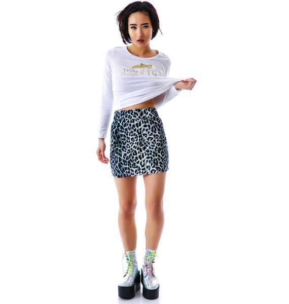 Joyrich Snow Leopard Mini Tube Skirt