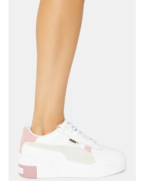 Pink Cali Wedge Mix Sneakers