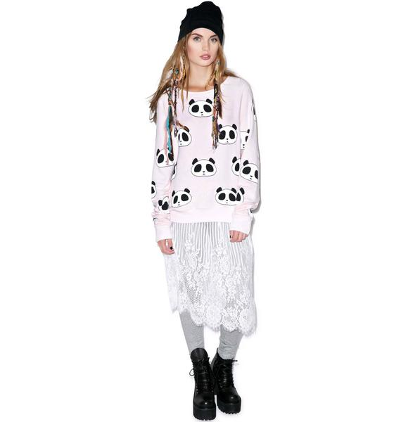 Wildfox Couture Panda Head Baggy Beach Jumper