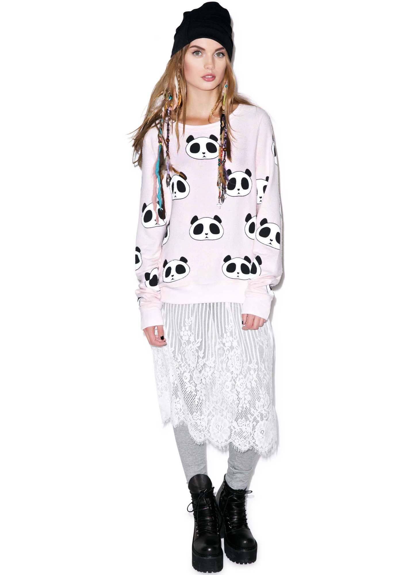 Wildfox Couture Panda Head Baggy Beach Jumper