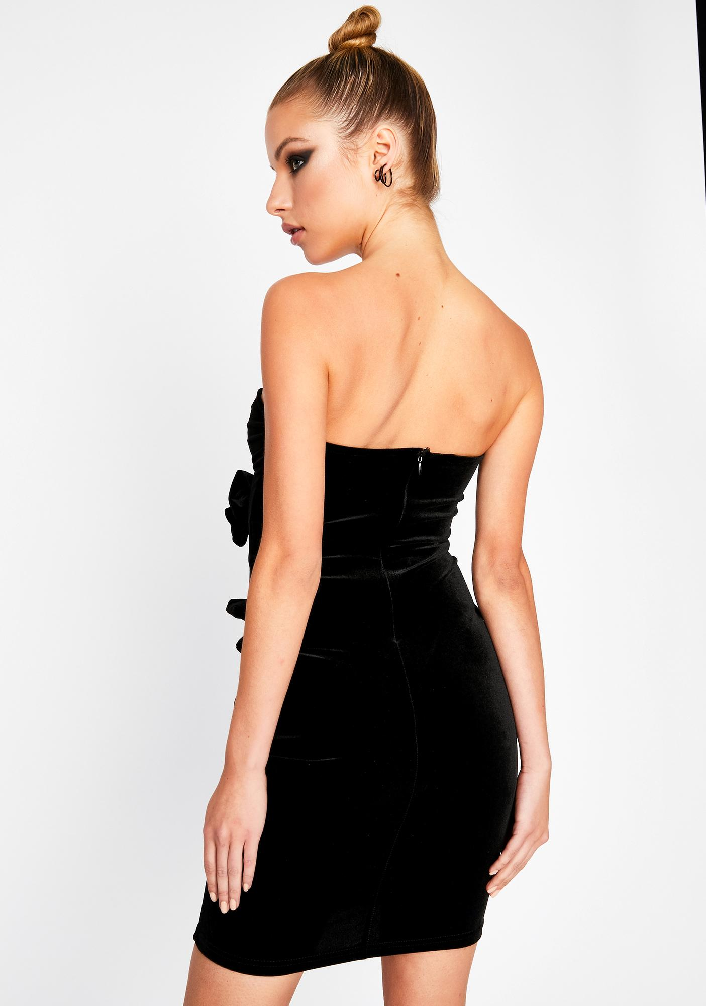 Slick Strapped In Velvet Dress