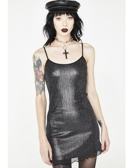 Gun Smoke Slip Dress