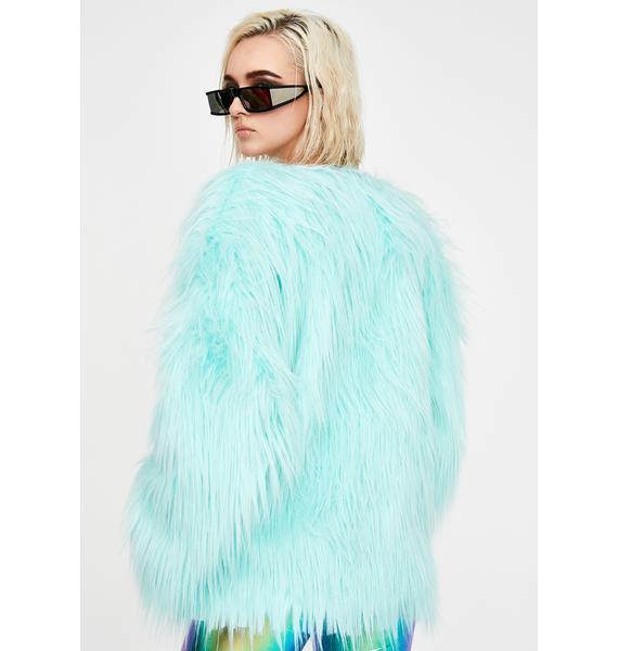 J Valentine Malibu Twilight Sparkle Faux Fur Coat