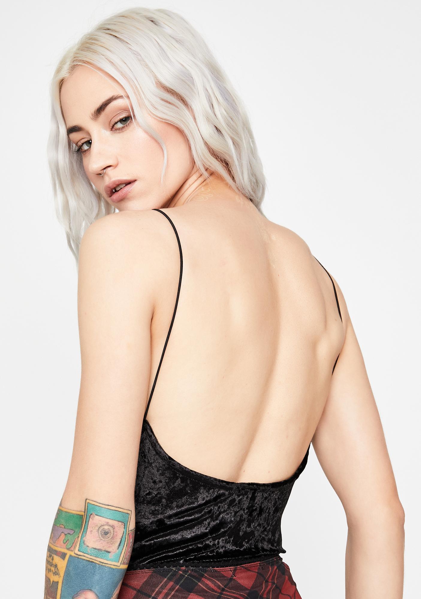 All About U Velvet Bodysuit