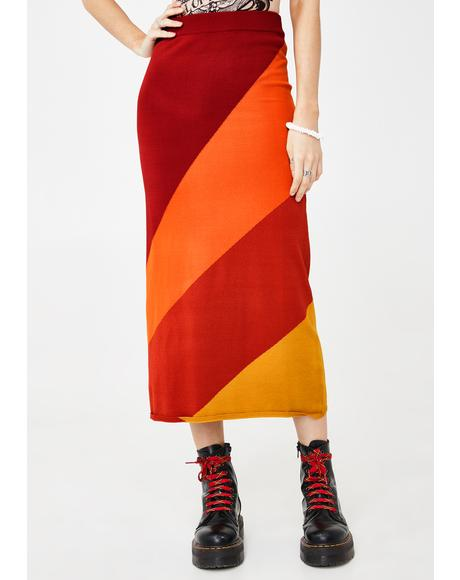 Wind In Ur Sailz Midi Skirt