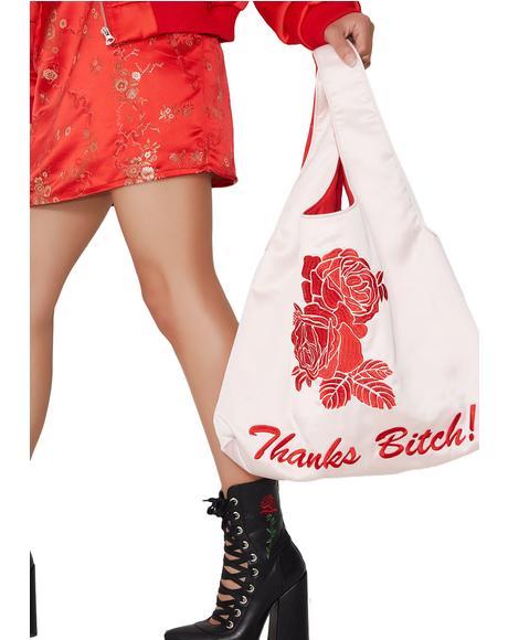 Miss Manners Satin Shopper