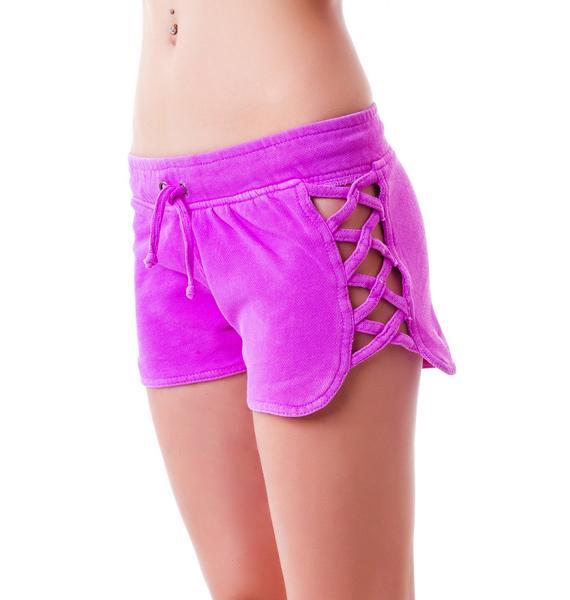 Joey Criss Cross Cut Shorts