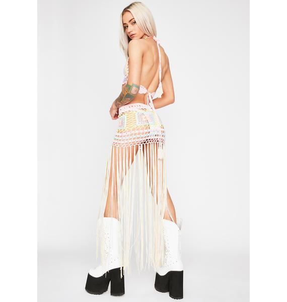 Bohemian Bloomer Crochet Skirt Set