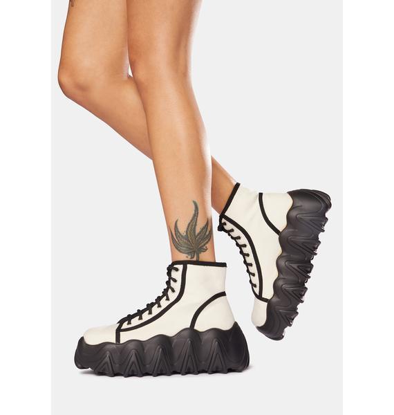 Lamoda White Sneakin' Away Chunky Platform Sneakers