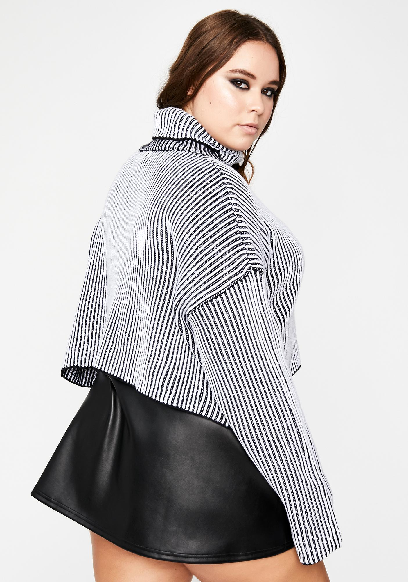 Mz First Name Trouble Stripe Sweater