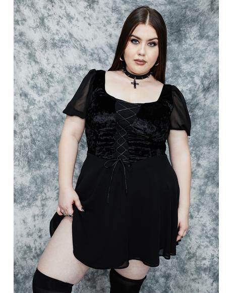 Doin' Sorcery N' Stuff Babydoll Dress