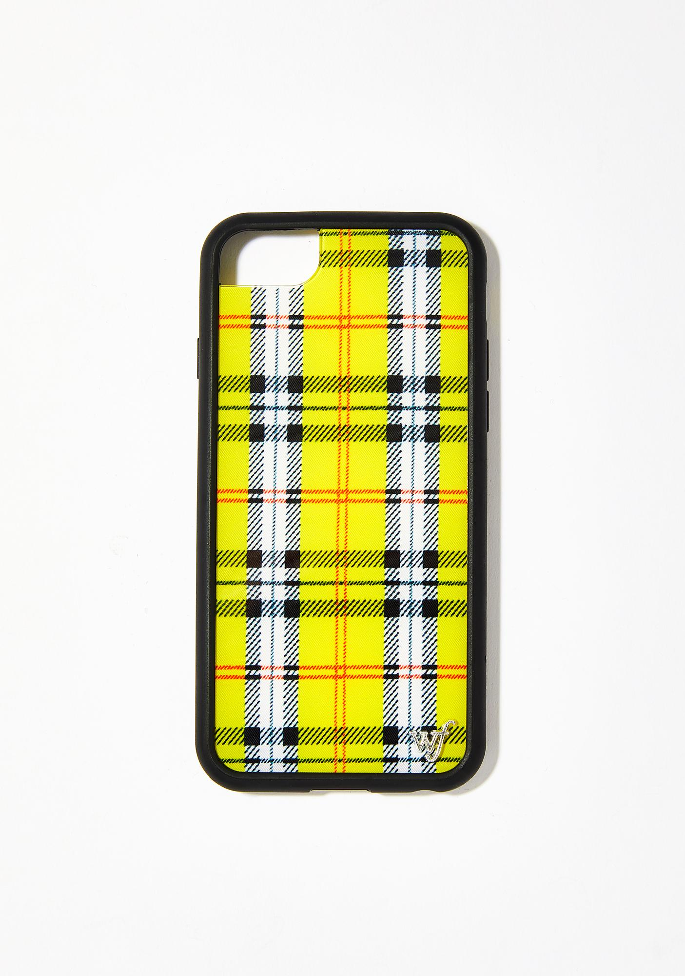 another chance 76b1c 148c0 Yellow Plaid IPhone Case
