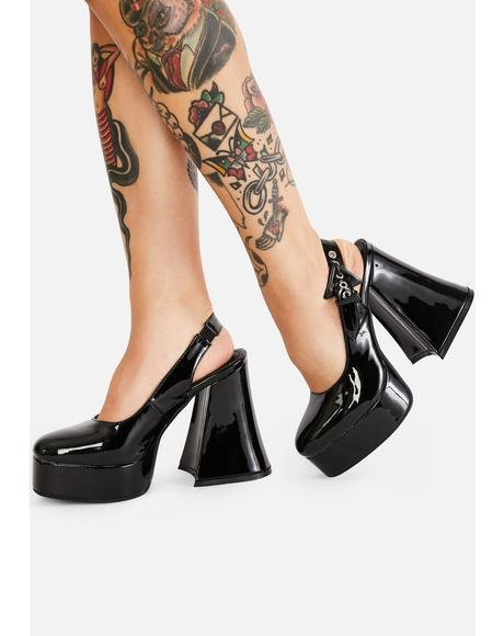 Here For It Patent Heels