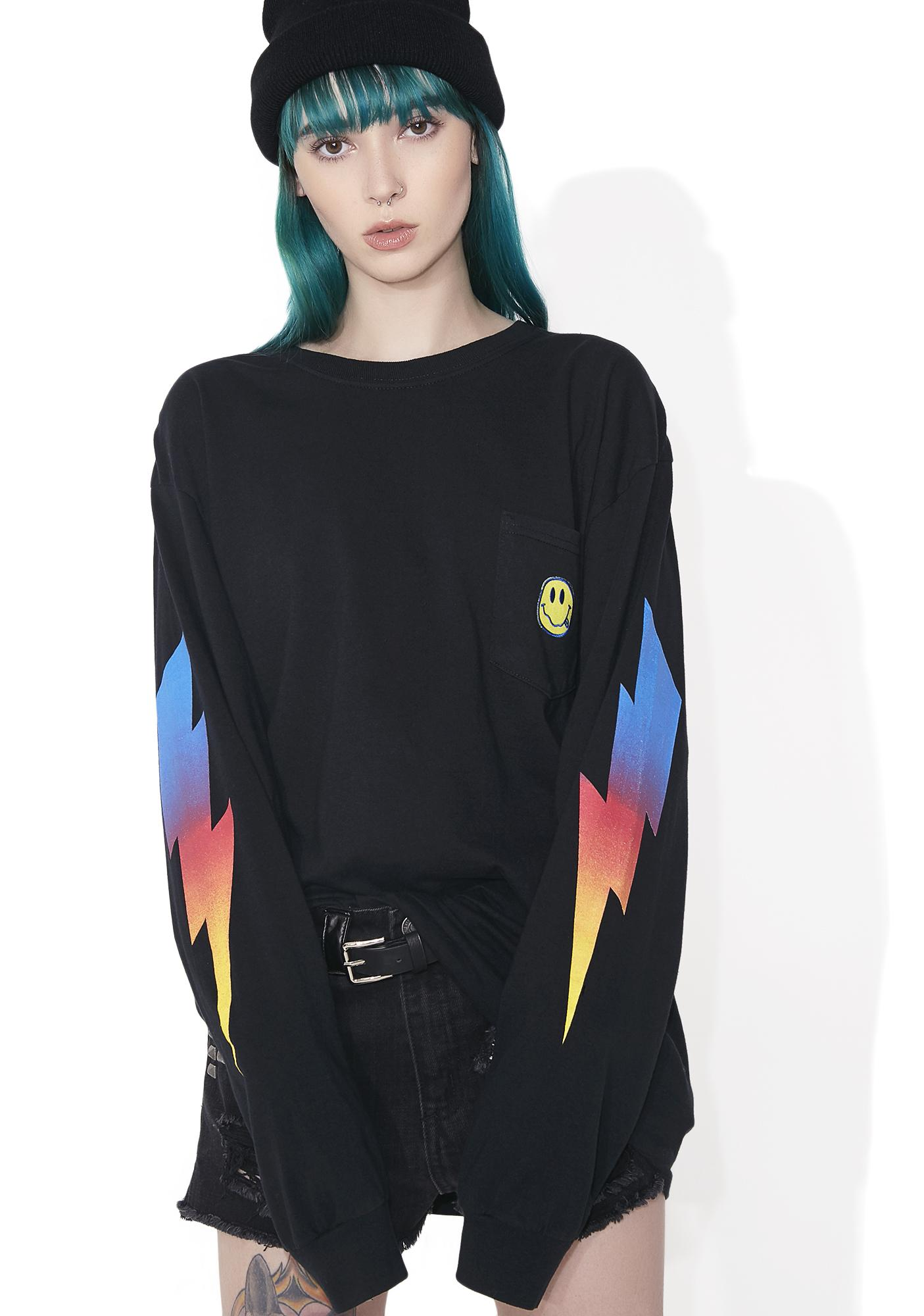 Polite Smiley Pocket Long Sleeve Shirt