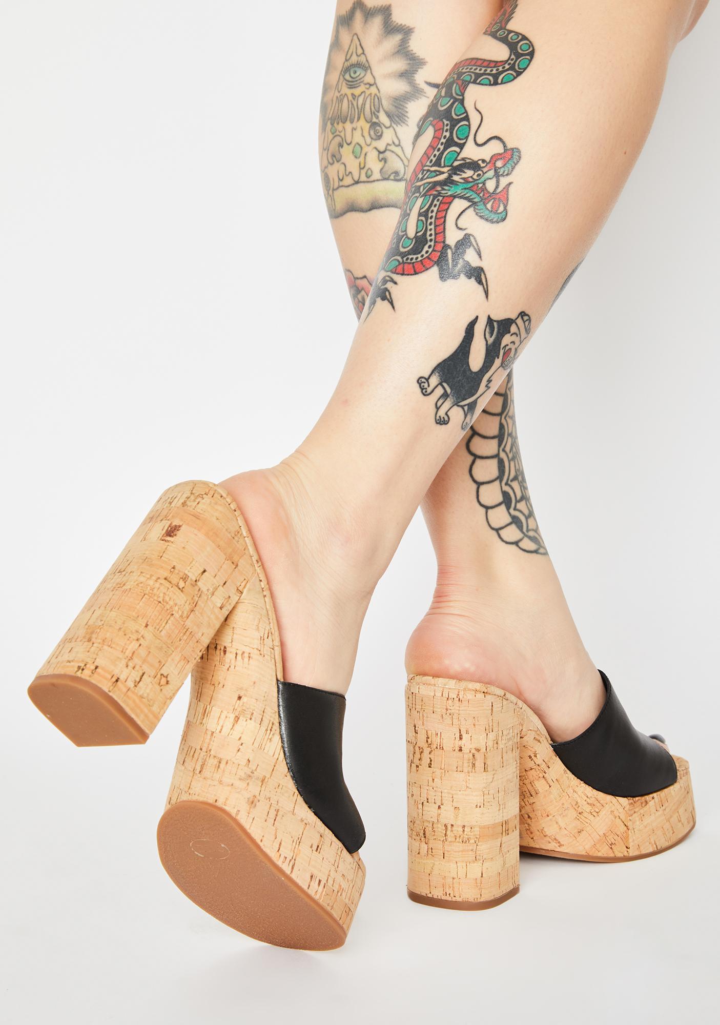 ROC Boots Australia  Black Cashew Block Heels