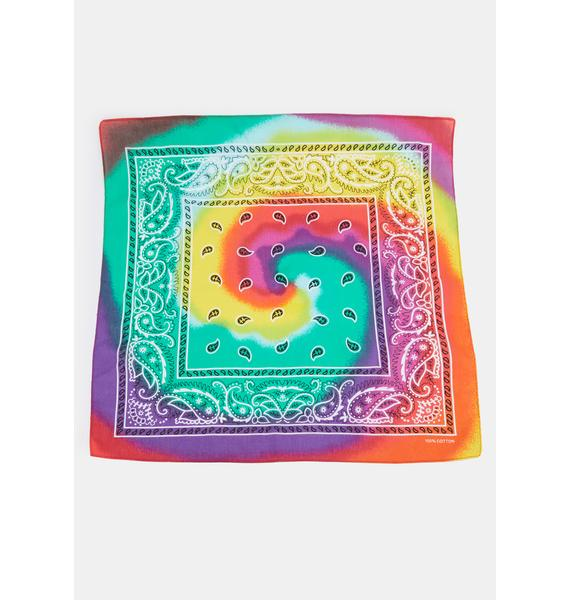 Boho Psychedelic Tie Dye Bandana