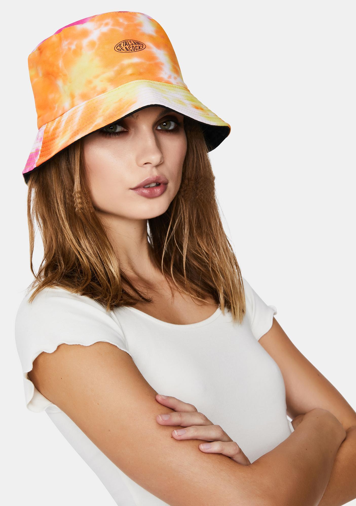 Petals and Peacocks Sunrise Bucket Hat