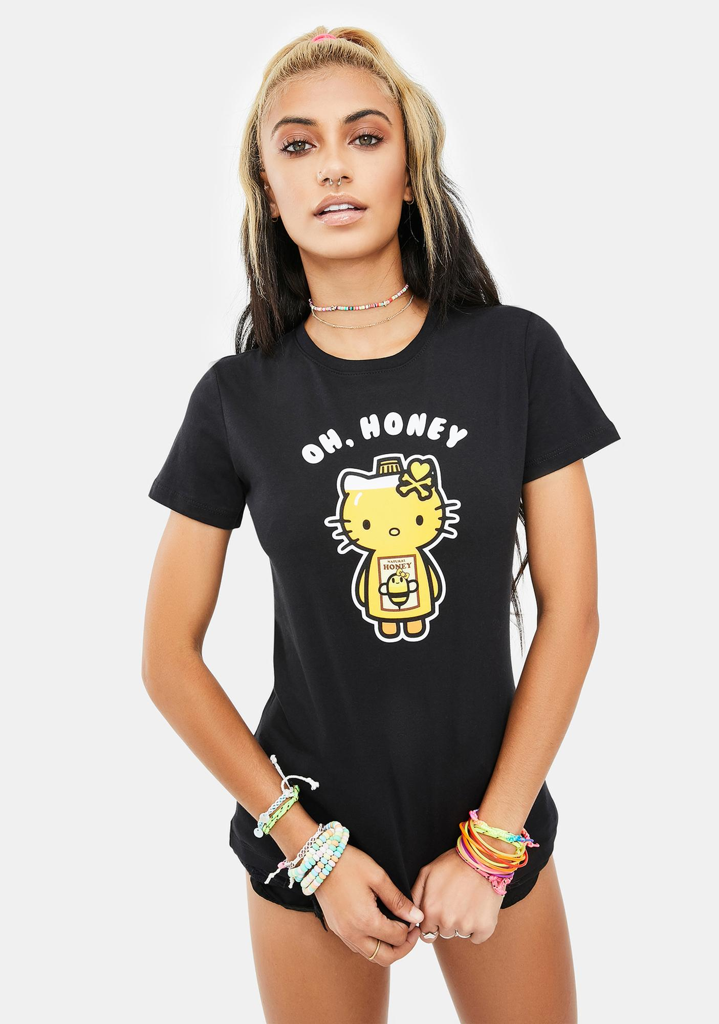 Tokidoki X Hello Kitty Oh Kitty Short Sleeve Graphic Tee