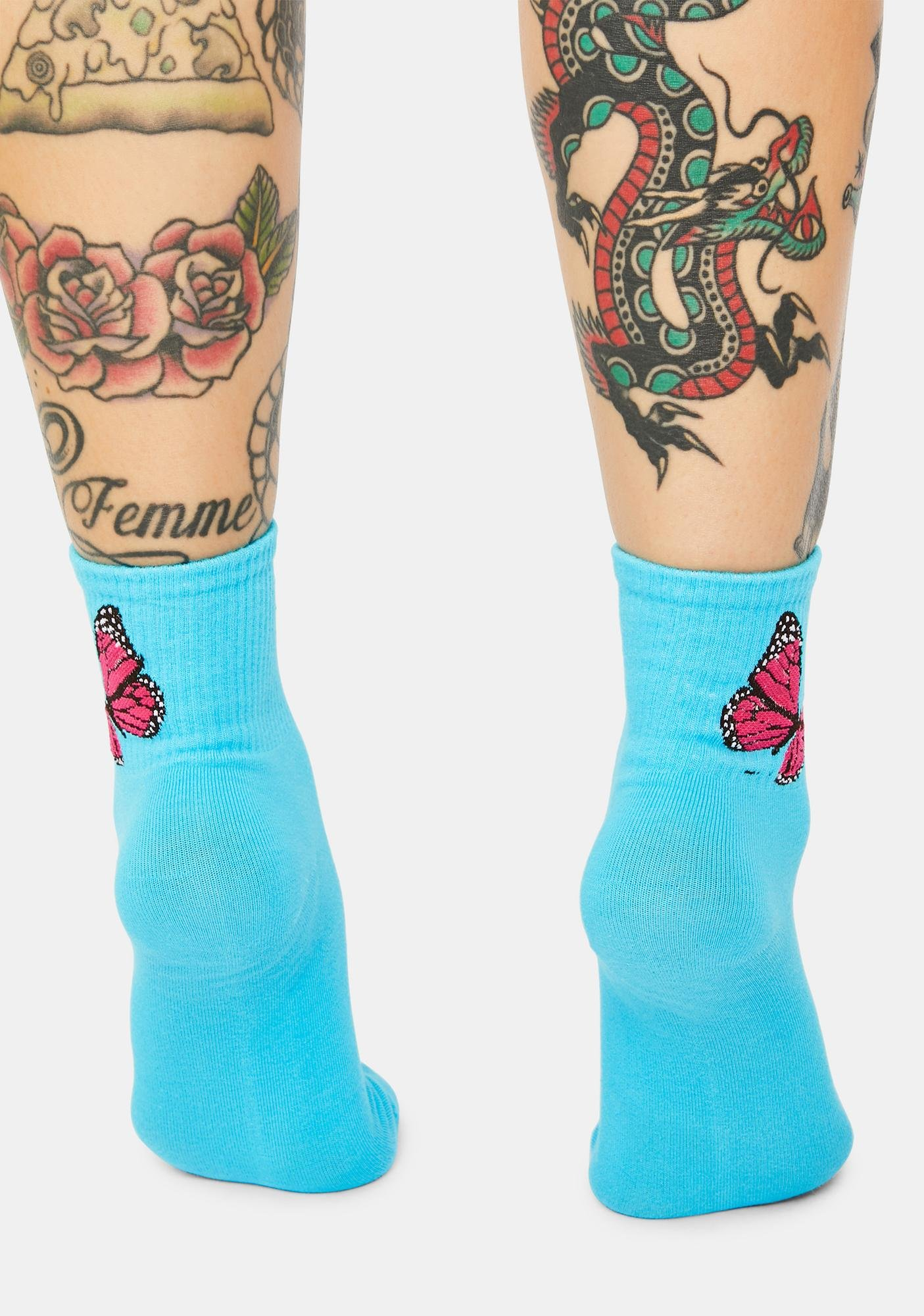 Aqua Sound Of Freedom Ribbed Crew Socks