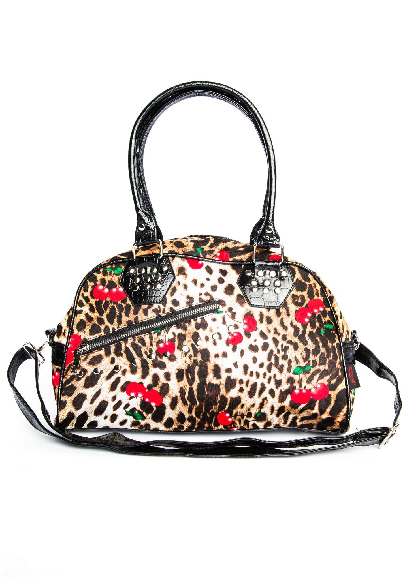 Shebangz! Leopard Cherry Handbag