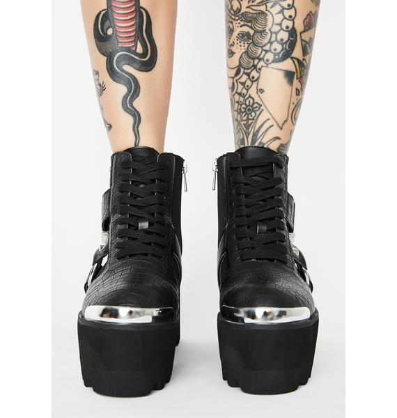 Disturbia Nitemare Platform Boots