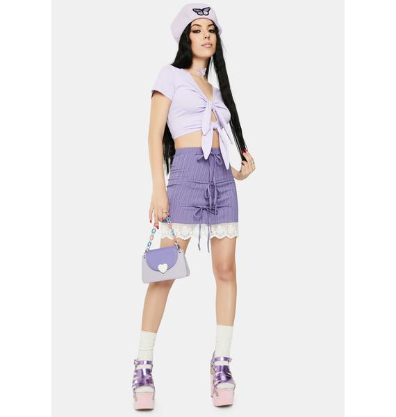 ZEMETA Double Knot Tie Crop Top