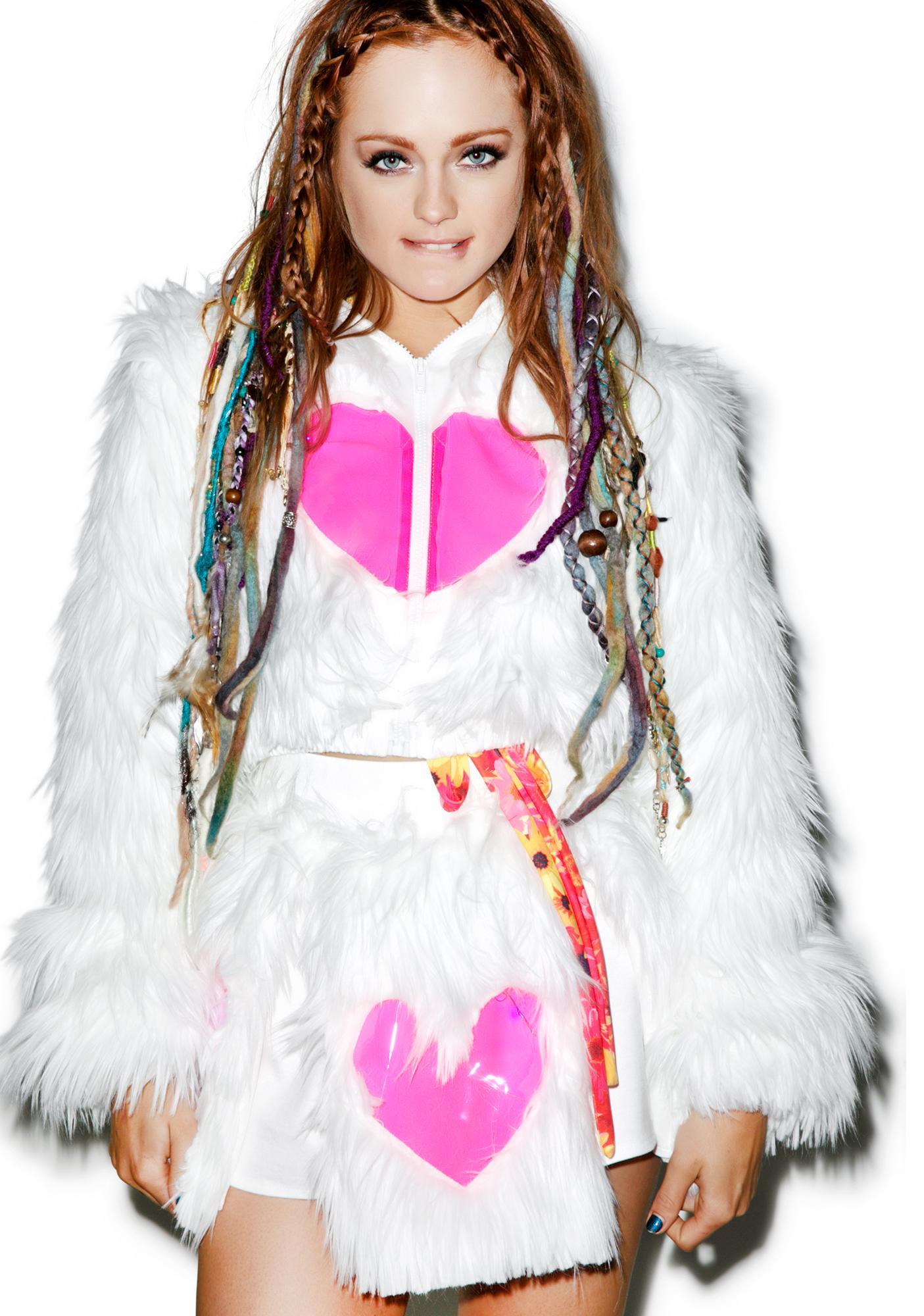 J Valentine Heart Window Light Up Jacket
