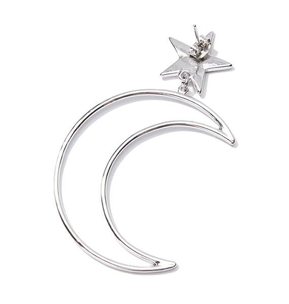 Moonlight Star Crescent Earrings