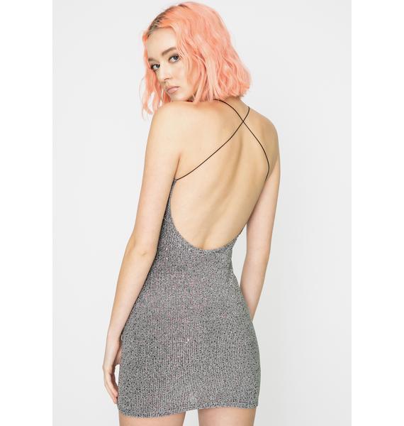 For Love & Lemons Constance Sparkle Slip Dress