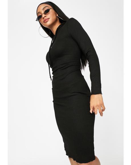 Talkin' Body Hooded Midi Dress
