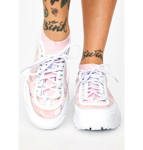 Fila Lilac Disruptor II Sock Mesh Sneakers