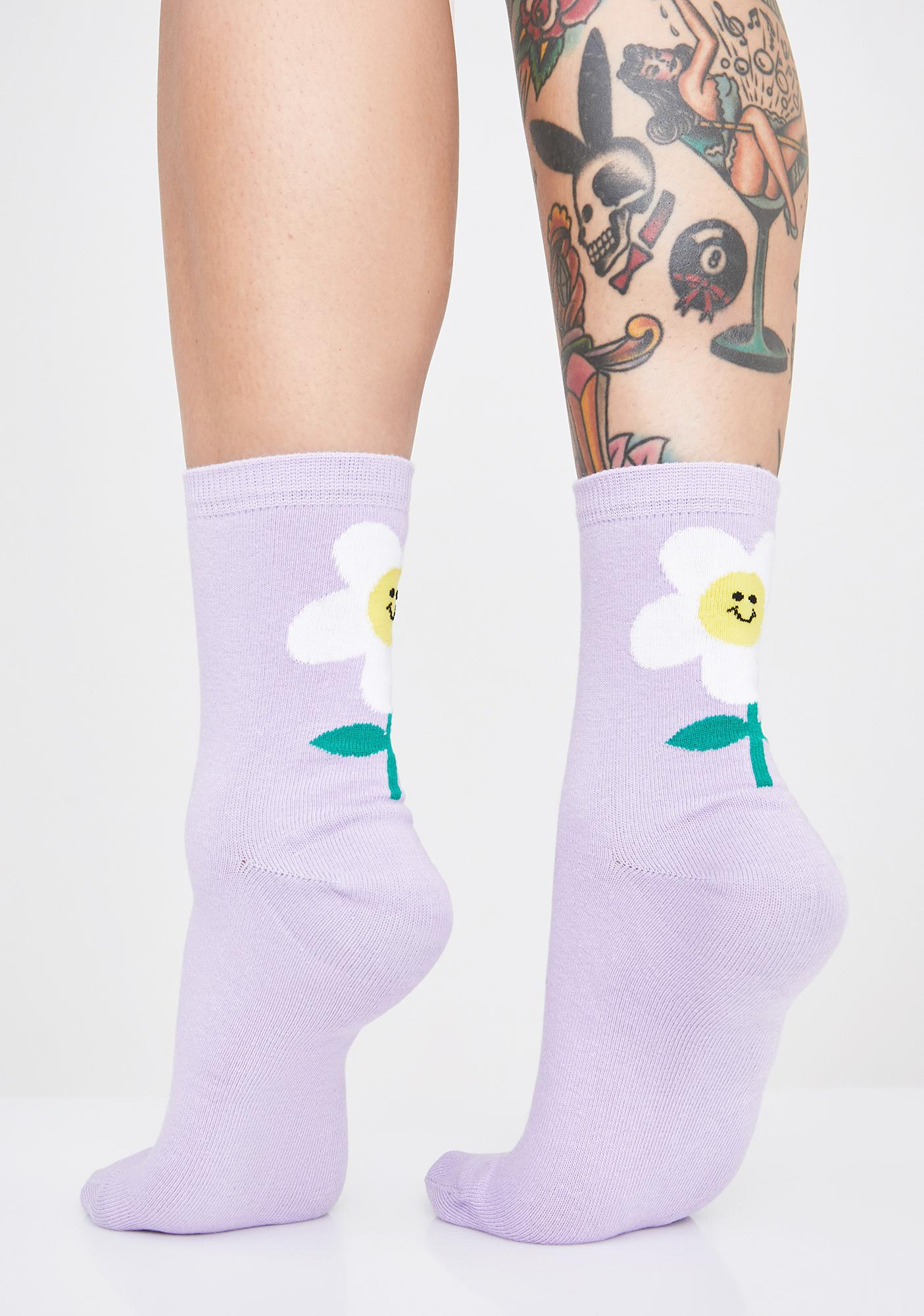 Lazy Oaf Daisy Ankle Socks