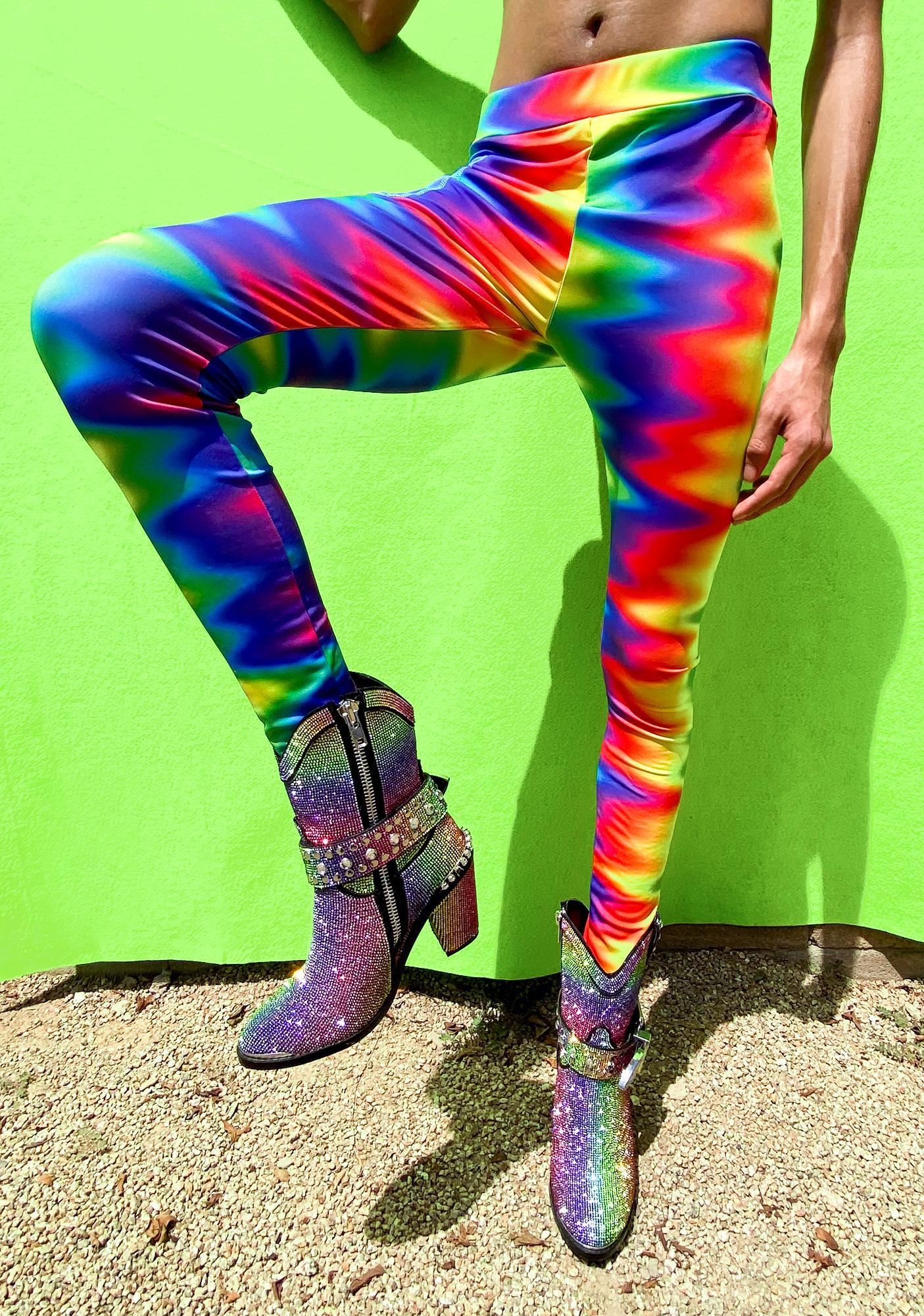 Club Exx Fly Ur Flag Rainbow Leggings