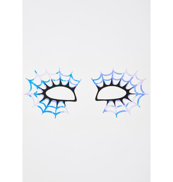 Face Lace Webula Eye Stickers
