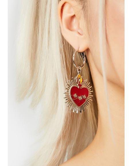 Wanderlust Shining Heart Drop Earrings