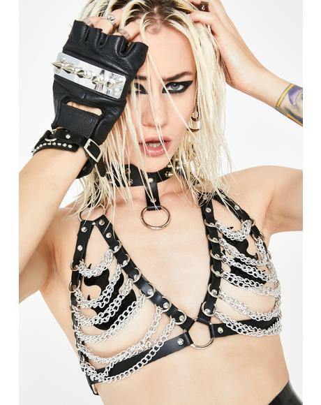 Brutal Romance Harness Bra Top