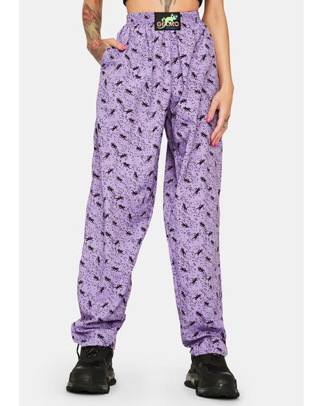 Purple Mini Gecko Beach Pants