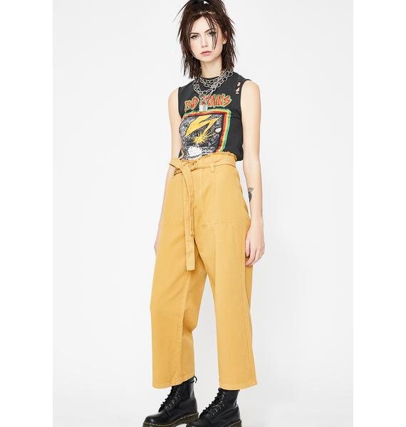 Juiced No Quitting Tie Waist Jeans