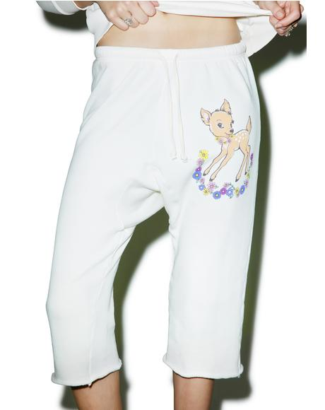 Vintage Deer Couch Princess Joggers