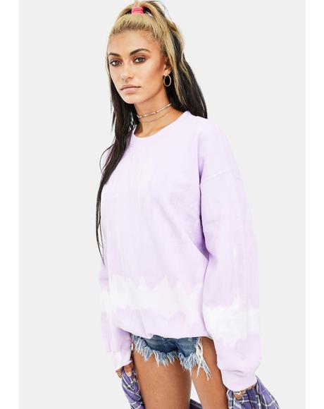 Lilac Outta Limits Tie Dye Sweatshirt