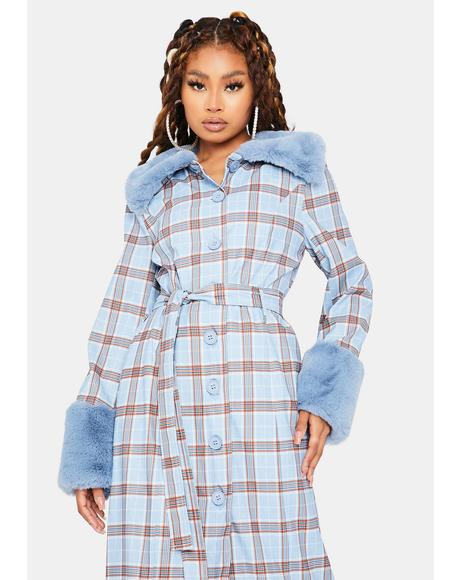 Love Goes On Plaid Coat
