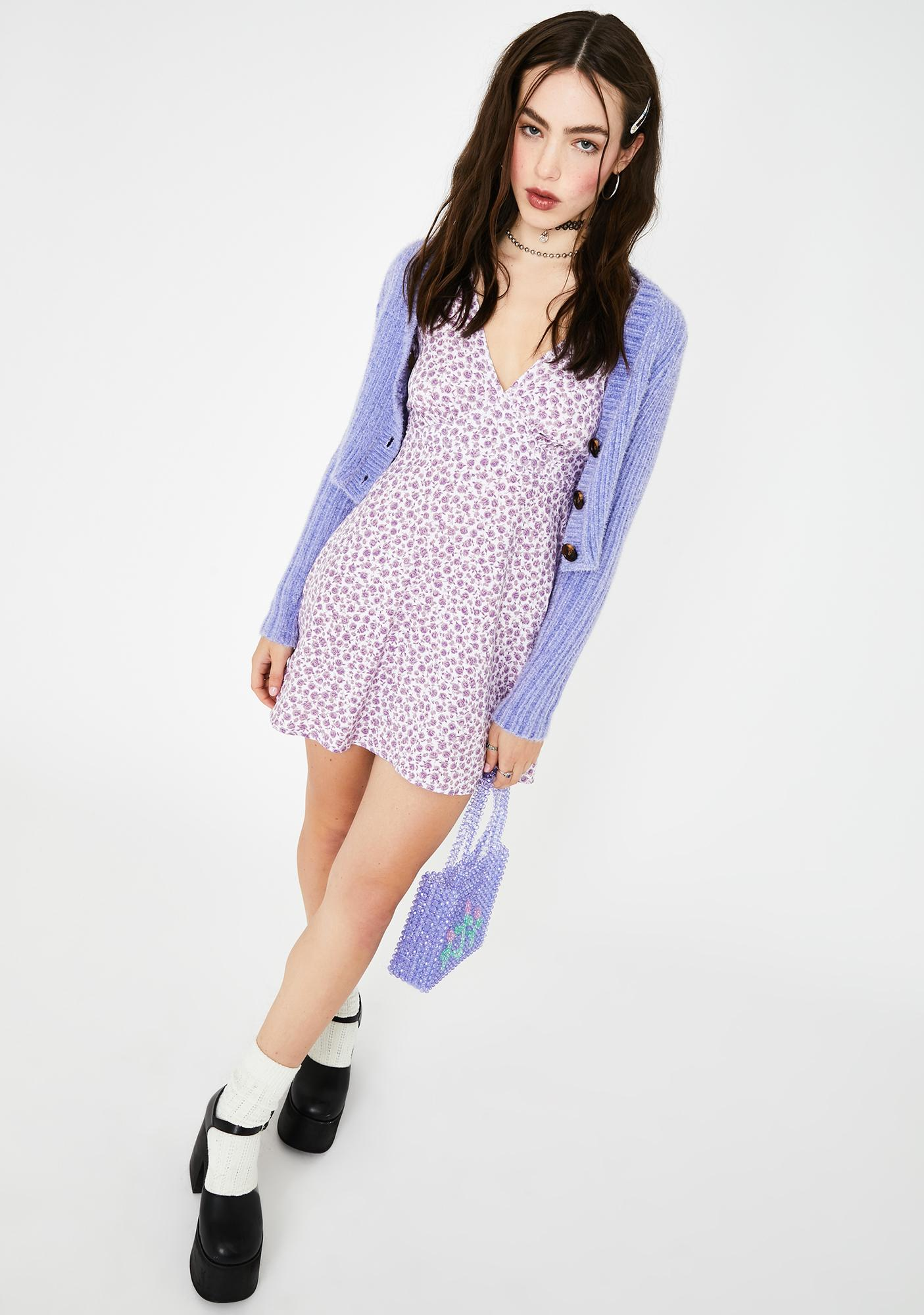 Motel Lilac Elara Mini Dress