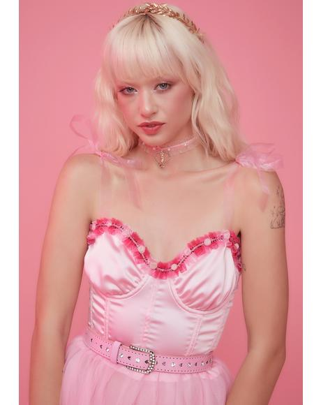 Gentle Night Satin Corset Top