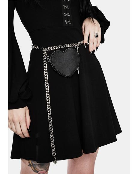 Dark Love Chain Belt Bag