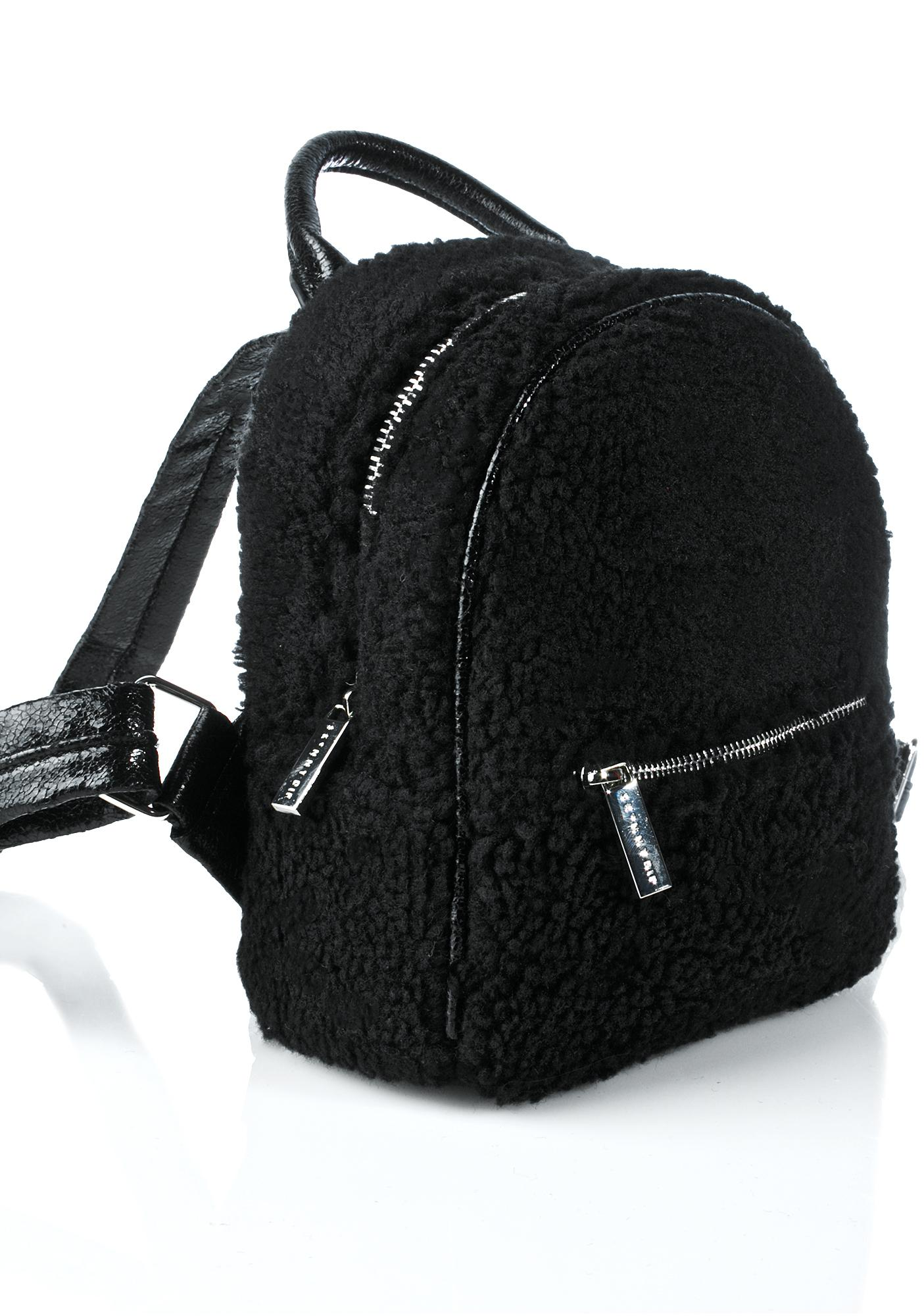 Skinnydip Charlie Mini Shearling Backpack