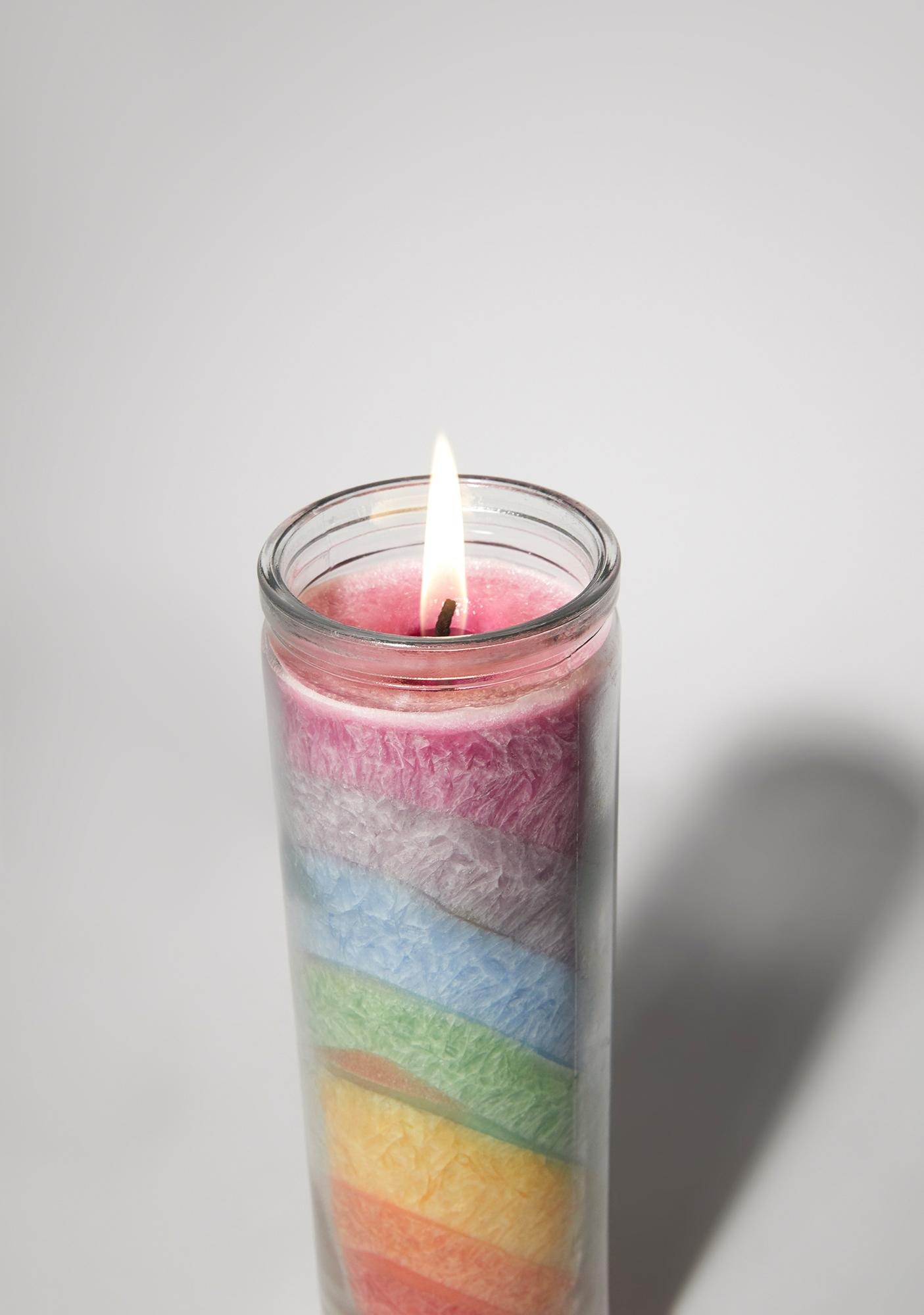 Crushed Rainbow Candle