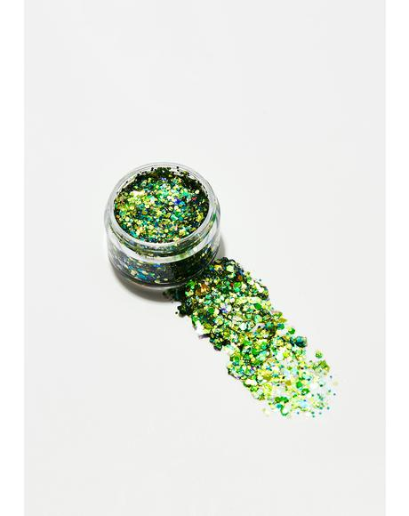 Green Dragon Glitter Gel